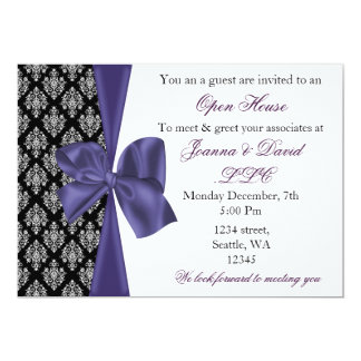 elegant stylish purple Corporate Invitation