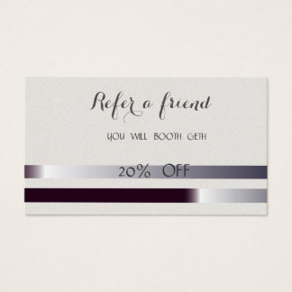 Elegant Stylish Striped  Referral Card