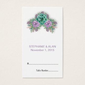 Elegant Succulent Watercolor Wedding Place Cards