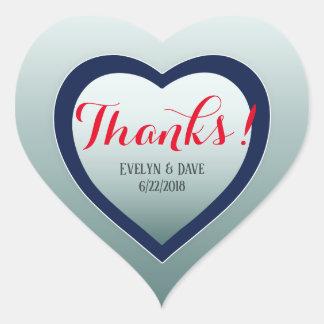 Elegant thank you couples Custom texts CC0983 Heart Sticker