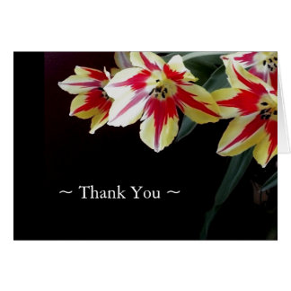 Elegant Thank You Notes - Red & Yellow Tulips