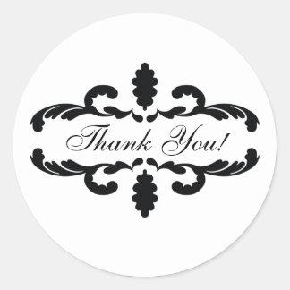 Elegant Thank You Wedding Favour Sticker