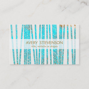 Medicine business cards zazzle nz elegant turquoise blue bamboo nature health spa business card reheart Choice Image