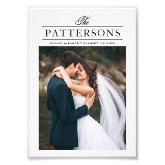 Elegant Typography Personalized Wedding Photo