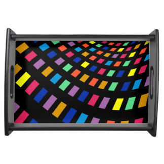 Elegant Vanity Tray with colorful design Serving Platter