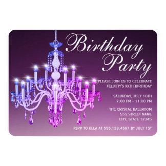 Elegant Venetian Chandelier   Birthday Party Card