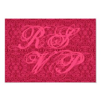 Elegant Victorian Pink Pattern RSVP Cards