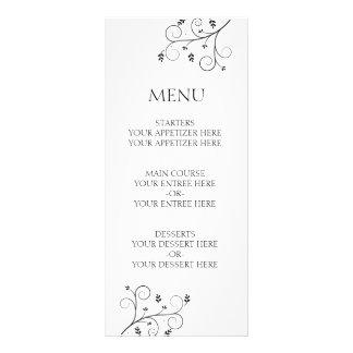 Elegant Vines Wedding Menu Rack Cards