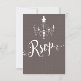 Elegant Vintage Ballroom Chandelier Wedding RSVP