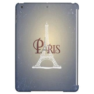 Elegant Vintage Blue Eiffel Tower Paris Design iPad Air Cover