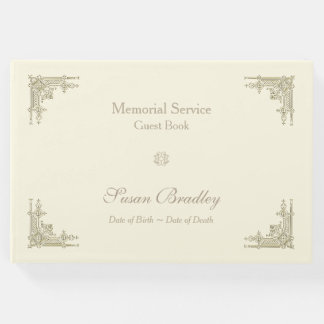 Elegant Vintage Choose Color Memorial Guest Book
