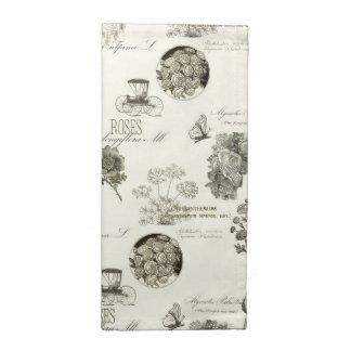 Elegant vintage floral pattern cloth napkin