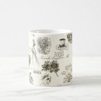 Elegant vintage floral pattern mug