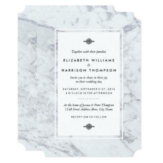 Elegant Vintage Marble Wedding Card