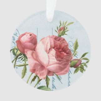 Elegant vintage ornament w/ beautiful rose