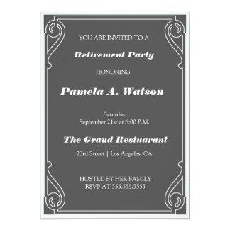 Elegant Vintage Retirement Party 13 Cm X 18 Cm Invitation Card