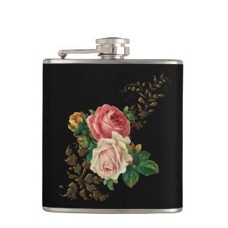 Elegant Vintage Roses Flask