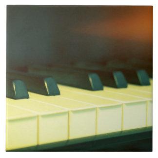 Elegant Vintage Style Grand Piano Keys Photograph Tile