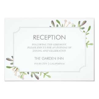 Elegant watercolor reception card