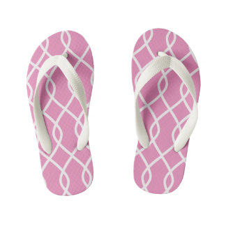 Elegant wave pattern -pink - Kids Flip flops Thongs
