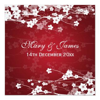 Elegant Wedding Cherry Blossom Red Invites