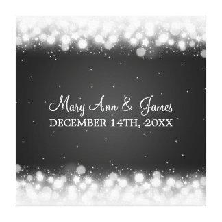 Elegant Wedding Favor  Magic Sparkle Black Canvas Print
