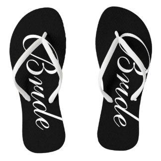 Elegant wedding flip flops for bride and groom thongs