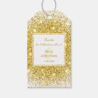 Elegant Wedding Gold Confetti Thank You Favor