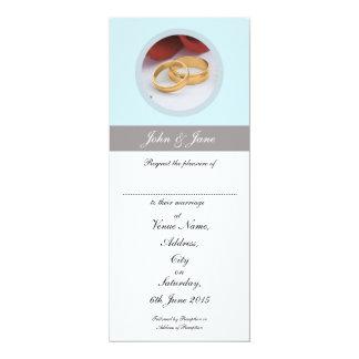 Elegant Wedding Invitation, White Envelopes Incl. 10 Cm X 24 Cm Invitation Card