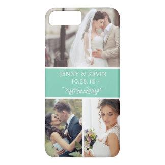 Elegant Wedding Memento Instagram Photo Collage iPhone 7 Plus Case