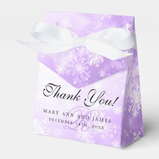 Elegant Wedding Monogram Purple Winter Wonderland Wedding Favour Box