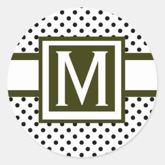 Elegant Wedding Monogram Stickers