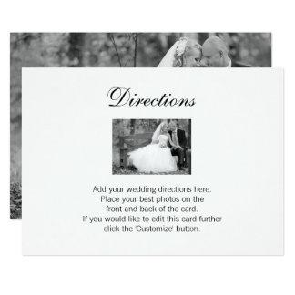 Elegant Wedding Photo Directions Card