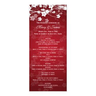 Elegant Wedding Program Cherry Blossom Red 10 Cm X 24 Cm Invitation Card