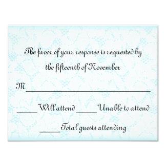 Elegant Wedding Response Card 11 Cm X 14 Cm Invitation Card