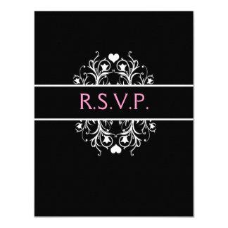 elegant wedding RSVP Card