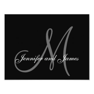 Elegant Wedding RSVP Card with Monogram