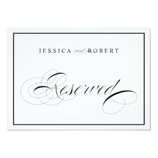 Elegant Wedding Sign Reserved Black Border Card