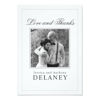 Elegant Wedding Thank You with Your Photo Card