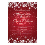 Elegant Wedding Winter Sparkle Red 13 Cm X 18 Cm Invitation Card