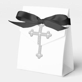 Elegant White Cross First Communion Favour Box