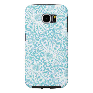 Elegant White Floral Lace Pattern Samsung Galaxy S6 Cases