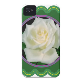 Elegant white rose flower floral photo on 100 gift Case-Mate iPhone 4 case