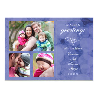 Elegant Winter Photo Holiday Card Personalized Invites