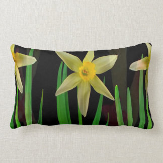 Elegant Yellow Flower Floral Bouquet Gifts Romance Lumbar Cushion