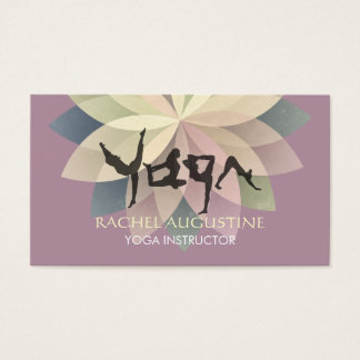 Elegant Yoga Human Alphabet Letters Colorful Lotus