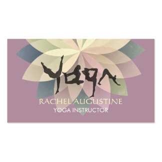 Elegant Yoga Human Alphabet Letters Colorful Lotus Pack Of Standard Business Cards