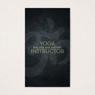 Elegant Yoga Om Symbol Black Grunge texture