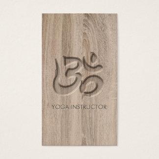 Elegant Yoga Om Symbol Carving Words in Wood
