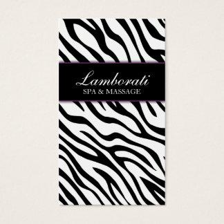 Elegant Zebra Print Fashion Hair Stylist Salon Spa Business Card
